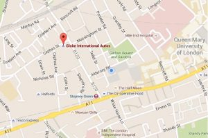 Globe International Autos location map